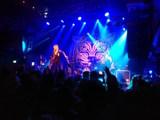 Michael Monroe on stage at 02 Academy Islington.